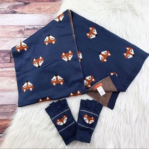 Modcloth Fox Scarf and Gloves Set